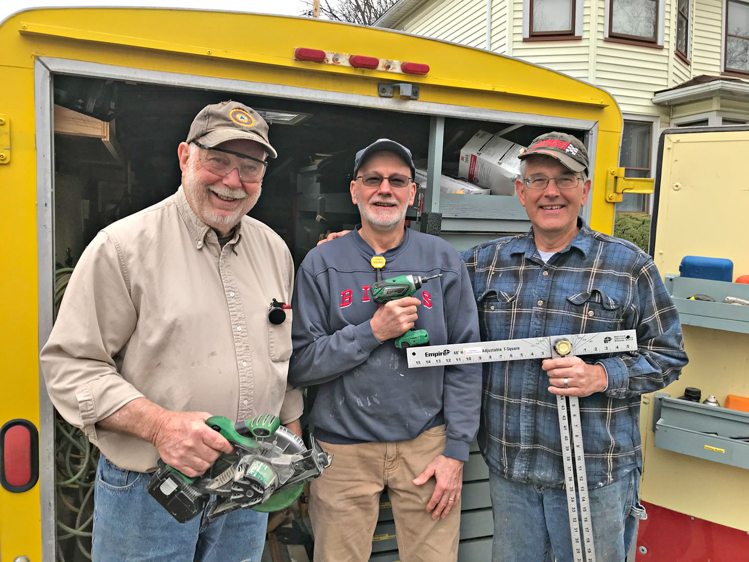 "photo of ""Three Amigos"" volunteer workers for the RRRS"
