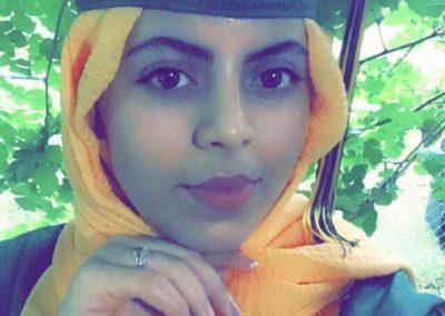 graduation photo of Adala Taher