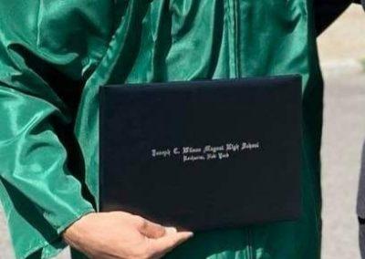 graduation photo of Masoud Aqa Jan